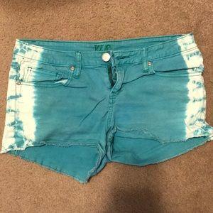 Tie-Dye Green Short-Shorts